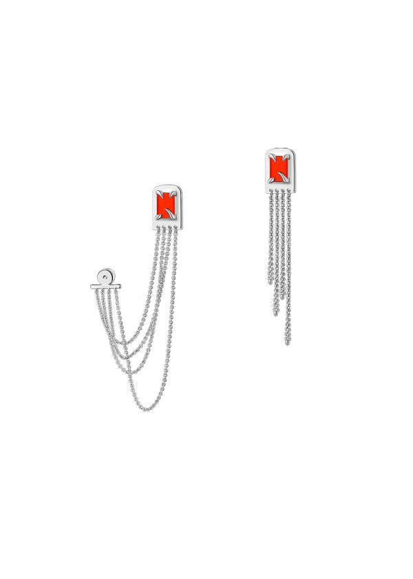 Juunngle Lab Flame Tassel Earrings Cover Picture