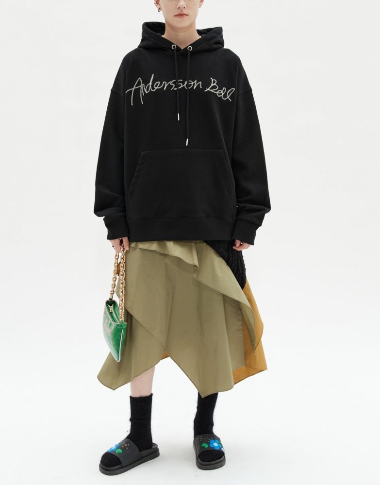 Andersson Bell Monique Poplin Combo Skirt Outfit On Model