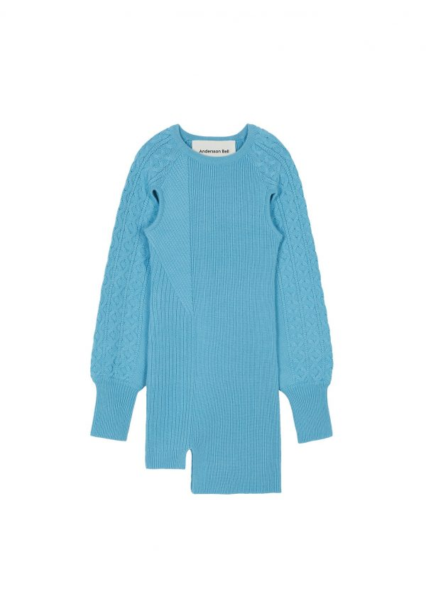 Andersson Bell Batty Cut Out Mini Knit Front