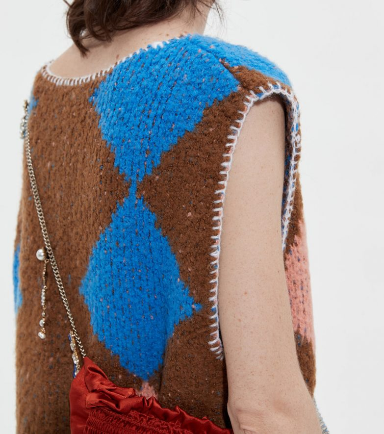 Andersson Bell Daria Diamond Knit Vest Detail 2
