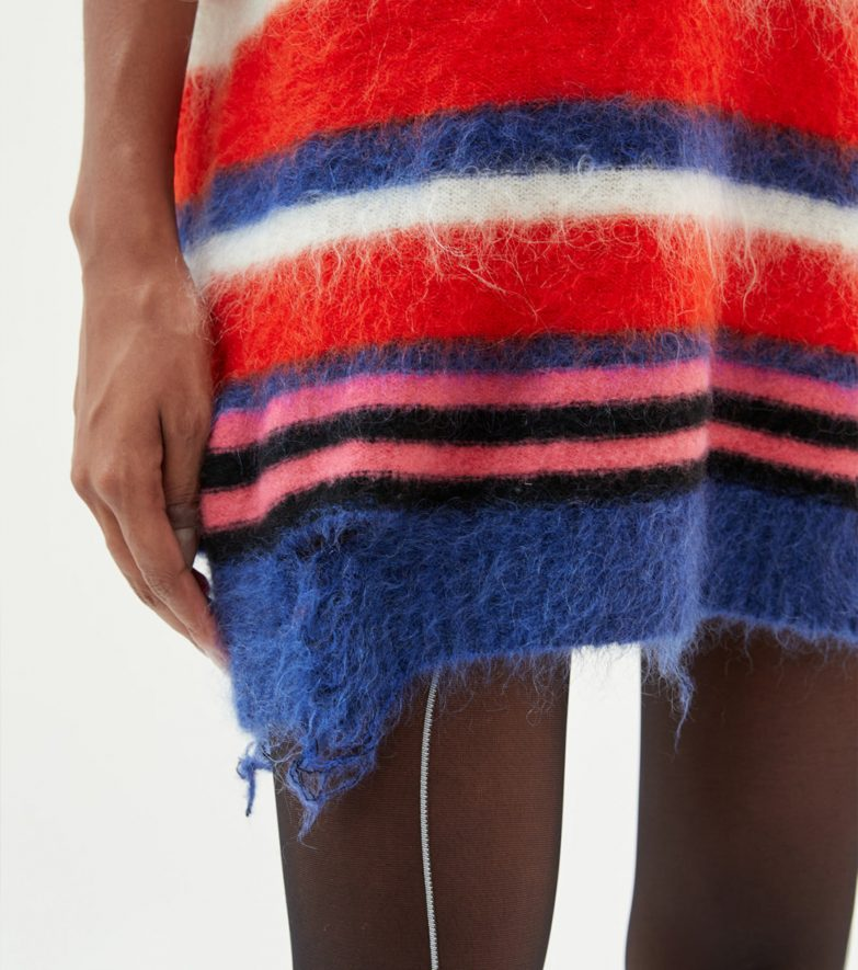 Andersson Bell Multi Striped Knit Polo Sweater Detail
