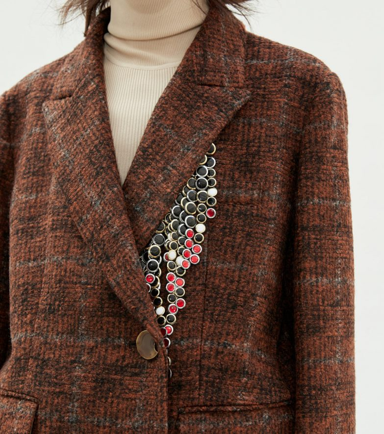Andersson Bell Irina Two Button Jacket Front Detail