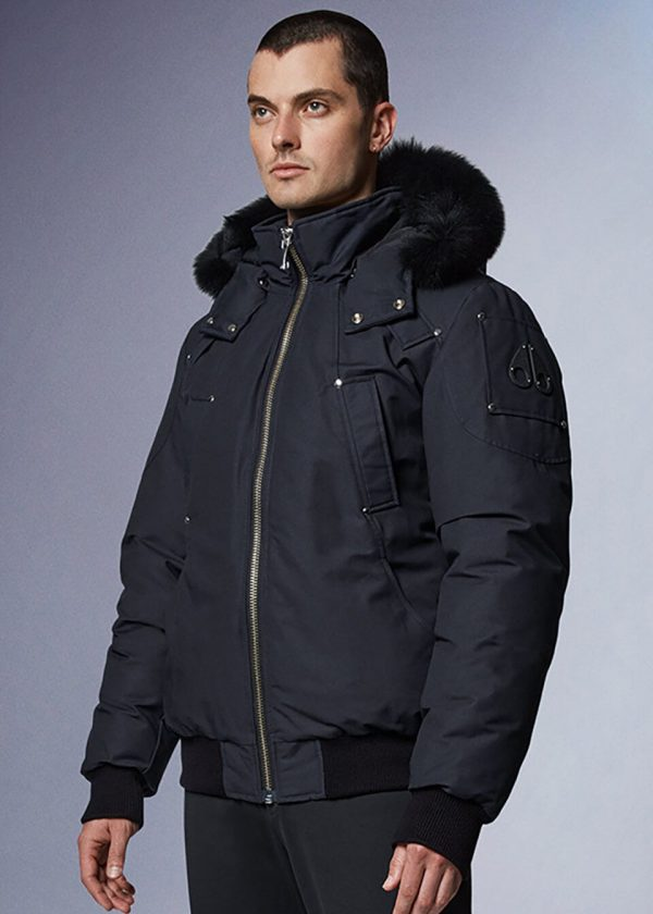 Moose Knuckles Ballistic Bomber In Navy Cover